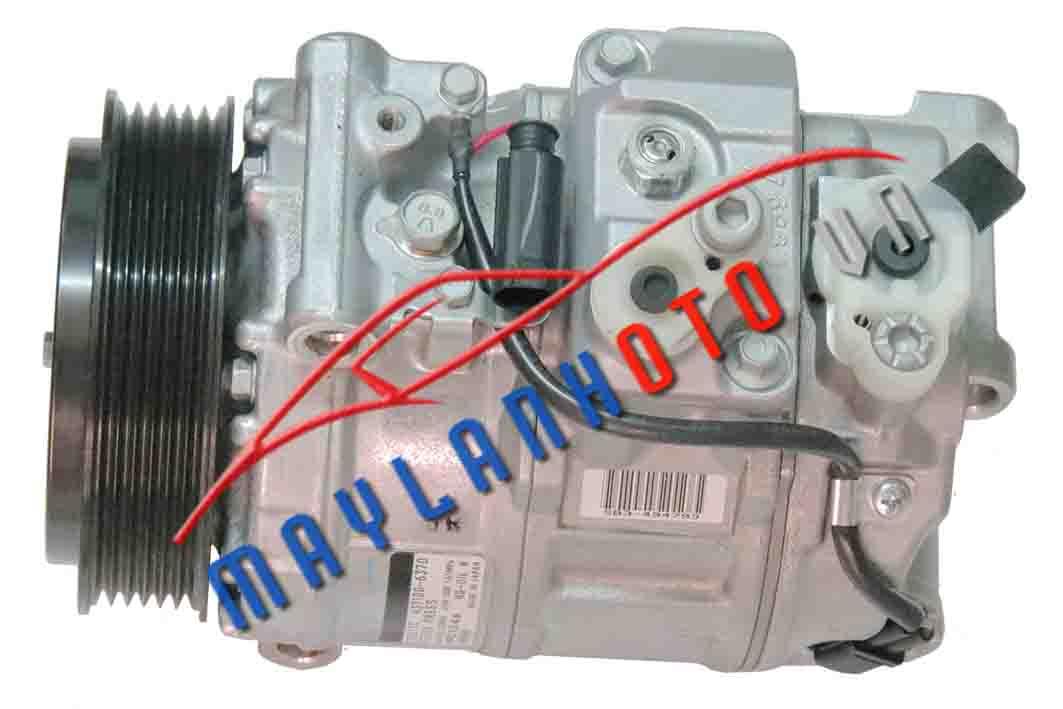 C200 (6 PK) / Máy nén khí Mercedes C200/ Lốc lạnh điều hòa Mercedes C200
