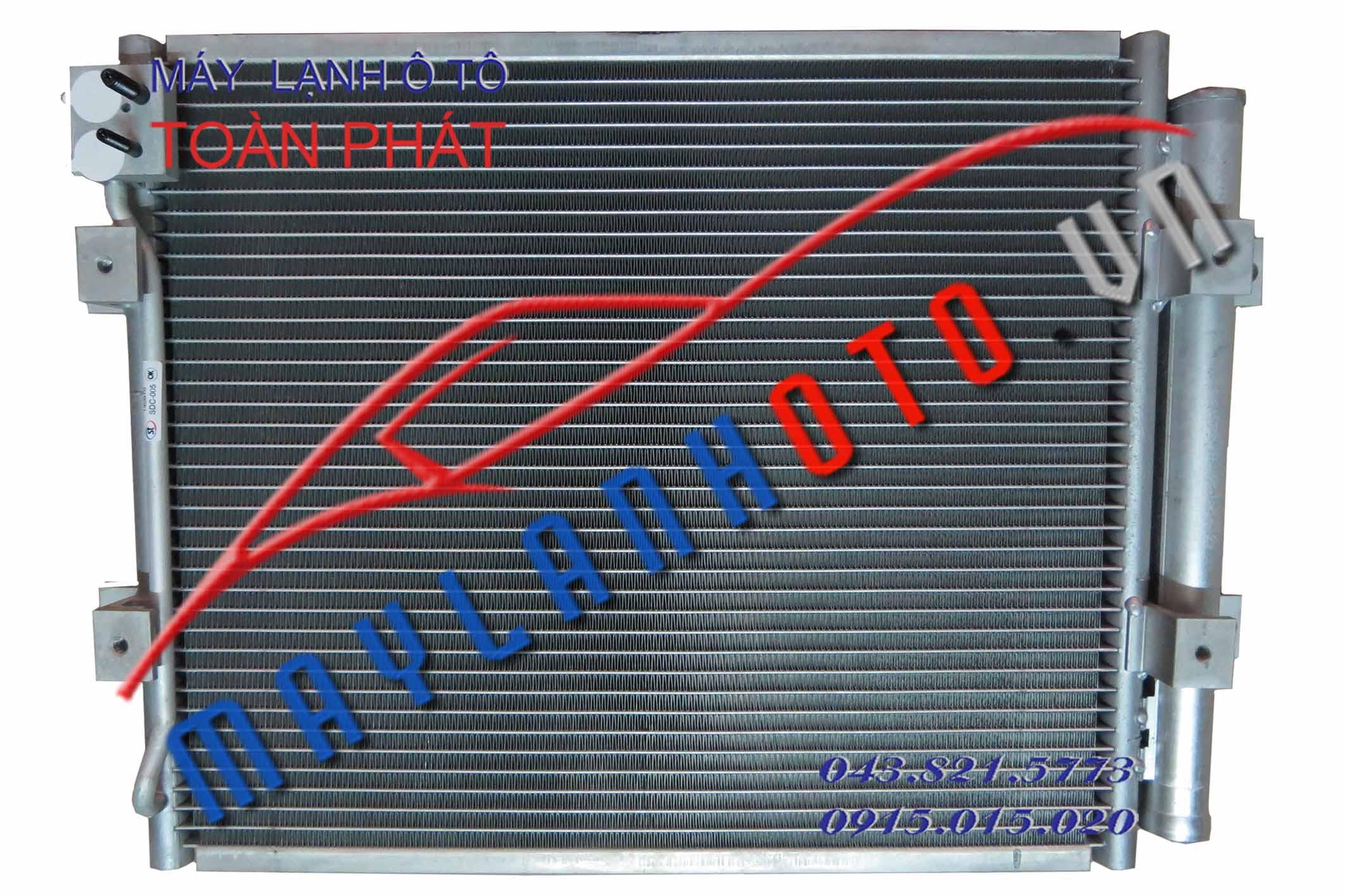 E-Mighty (dàn chính, 2 tai quạt quay ra) / Giàn nóng điều hòa Hyundai E-Mighty / Dàn nóng điều hòa Hyundai E-Mighty